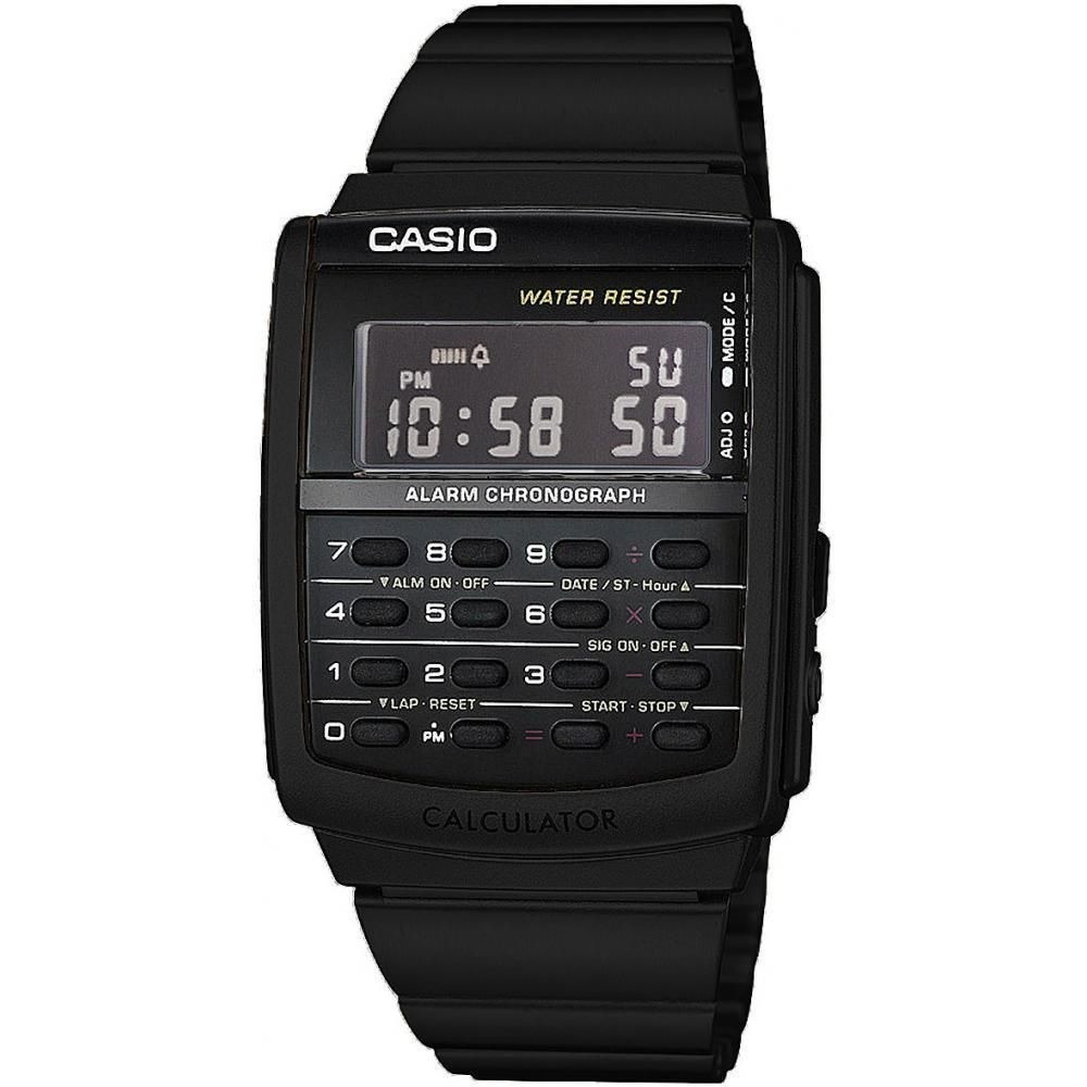 d92c9f55b80 relógio masculino calculadora aço inoxidável casio ca506b-1a. Carregando  zoom.
