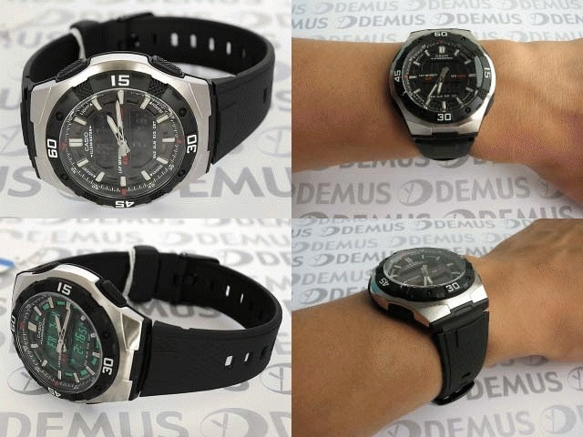 b2151fd9f38 Relógio Masculino Anadigi Casio Aq-164w-1avd - Preto - R  389