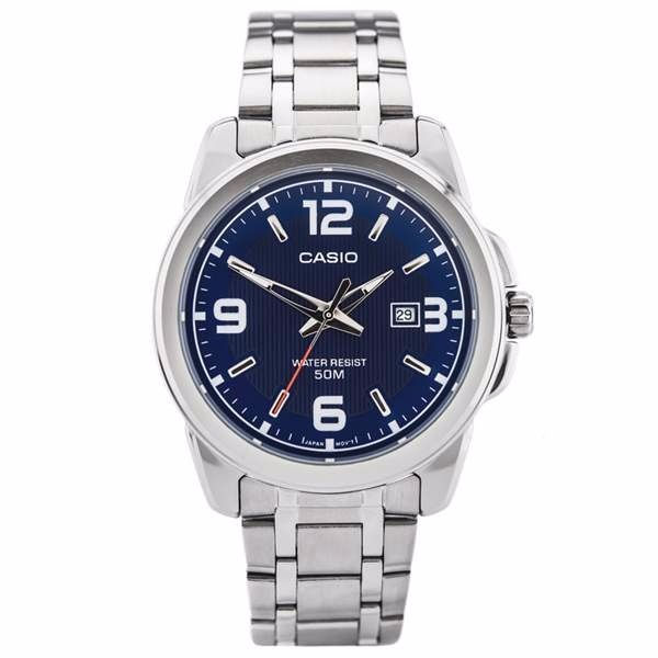 e3dfd02abd6 relógio masculino casio analógico aço azul 100%original wr50 · relógio  masculino casio
