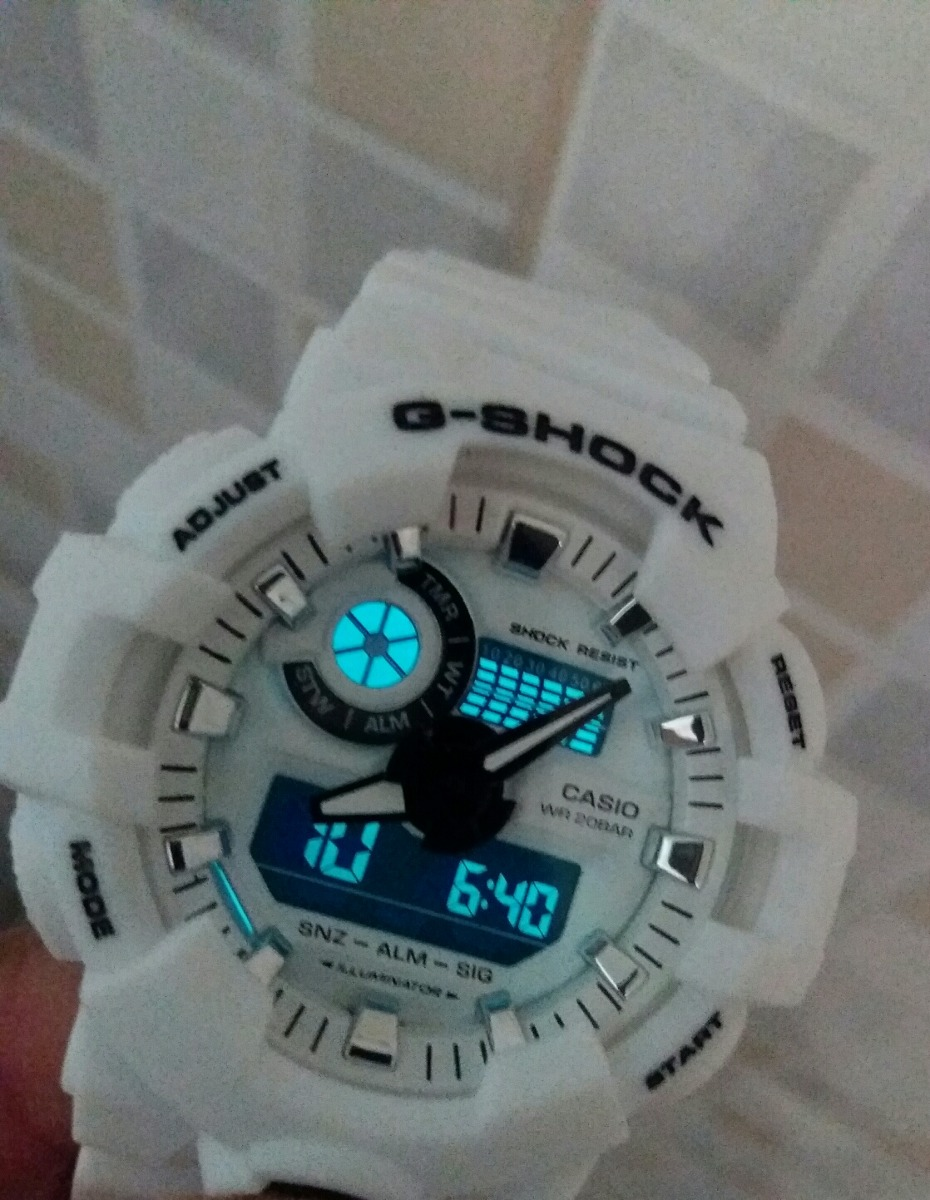 b187307a7e5 Relógio G Shock Masculino Casio Branco Fosco - R  85