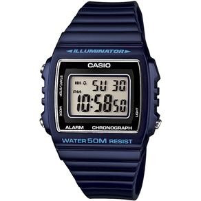 3e5c4606374 Relógio Digital Masculino Casio W-215h-2avdf - Azul - R  142