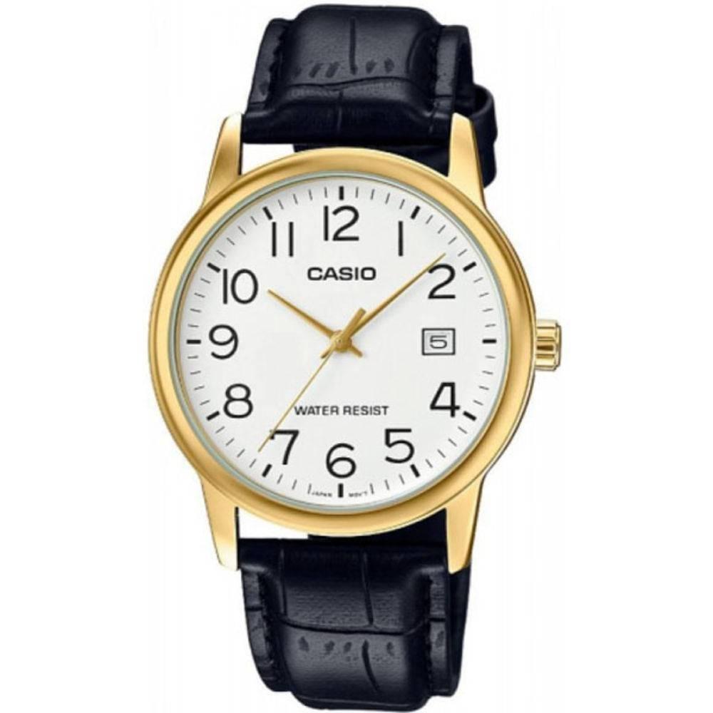 d31a5a823e3 Relógio Masculino Casio Analógico Mtp-v002gl-7b2udf Dourado - R  230 ...