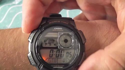 relógio masculino casio borracha 5 alarmes original crono