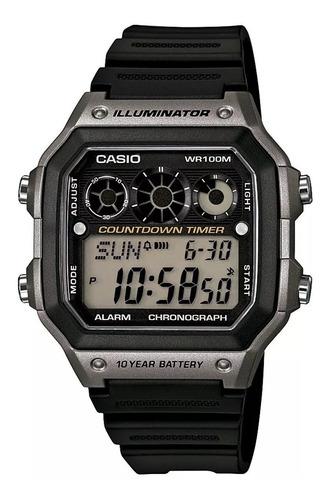 relógio masculino casio digital esportivo ae 1300wh na caixa