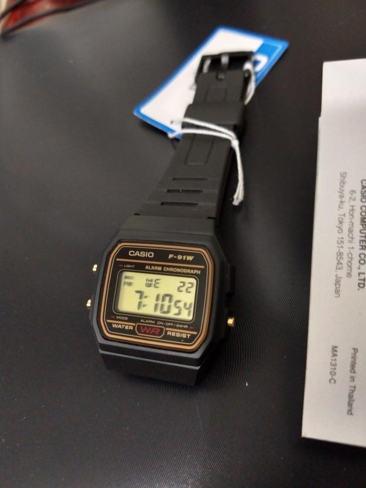 b394829ce32 relógio masculino casio digital vintage f-91wg-9qdf c nf-e. Carregando zoom.