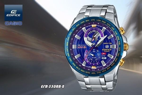 41302079e3c Relógio Masculino Casio Edifice Efr-550rb Red Bull Original - R  1.698