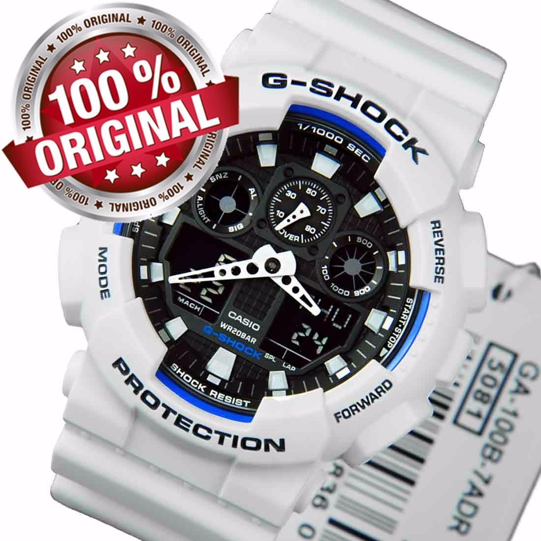 5624771dec4 relógio masculino casio g-shock branco ga-100 b7 promoção. Carregando zoom.