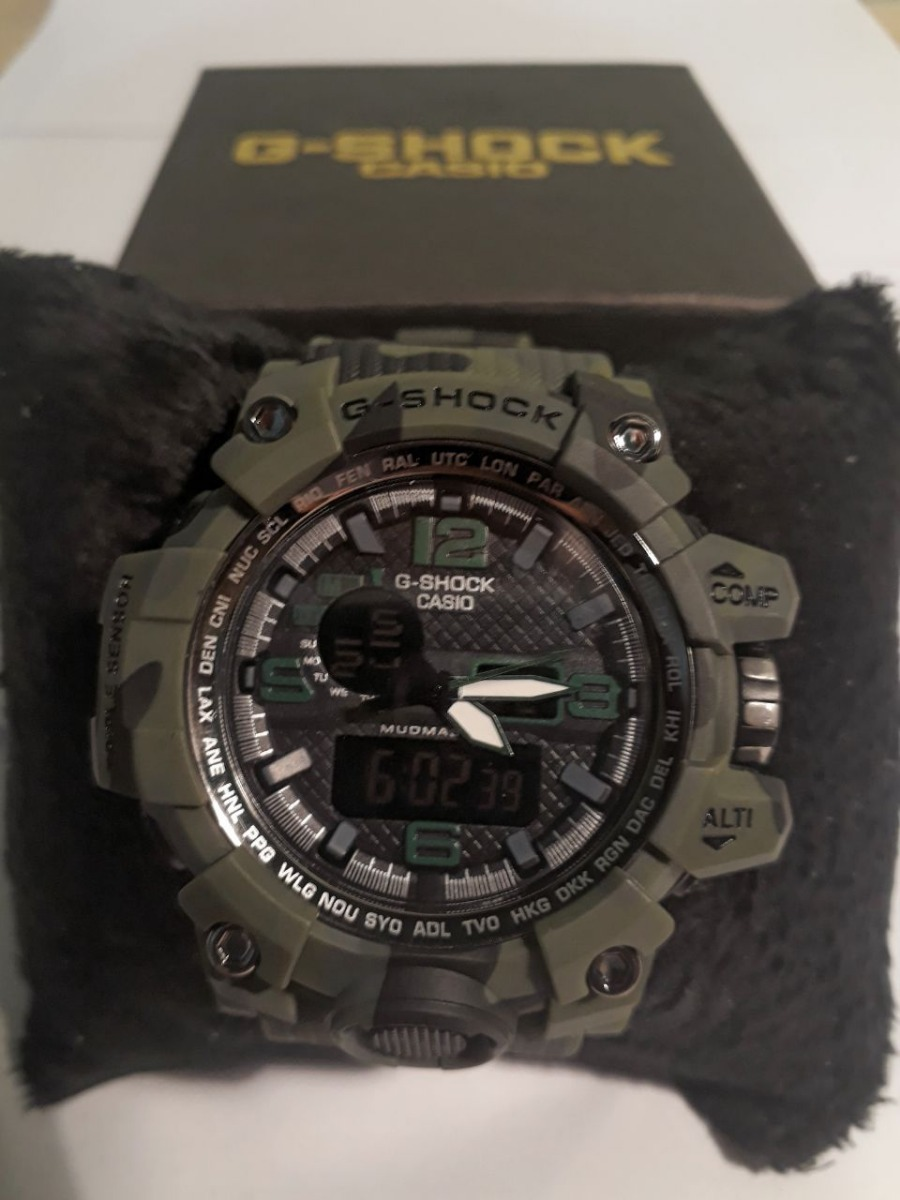 8be38f3c185 relógio masculino casio g-shock camuflado wr20bar. Carregando zoom.