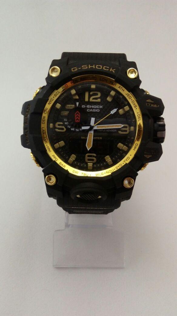 598334adab9 relógio masculino casio g-shock digital e analógico dourado. Carregando zoom .