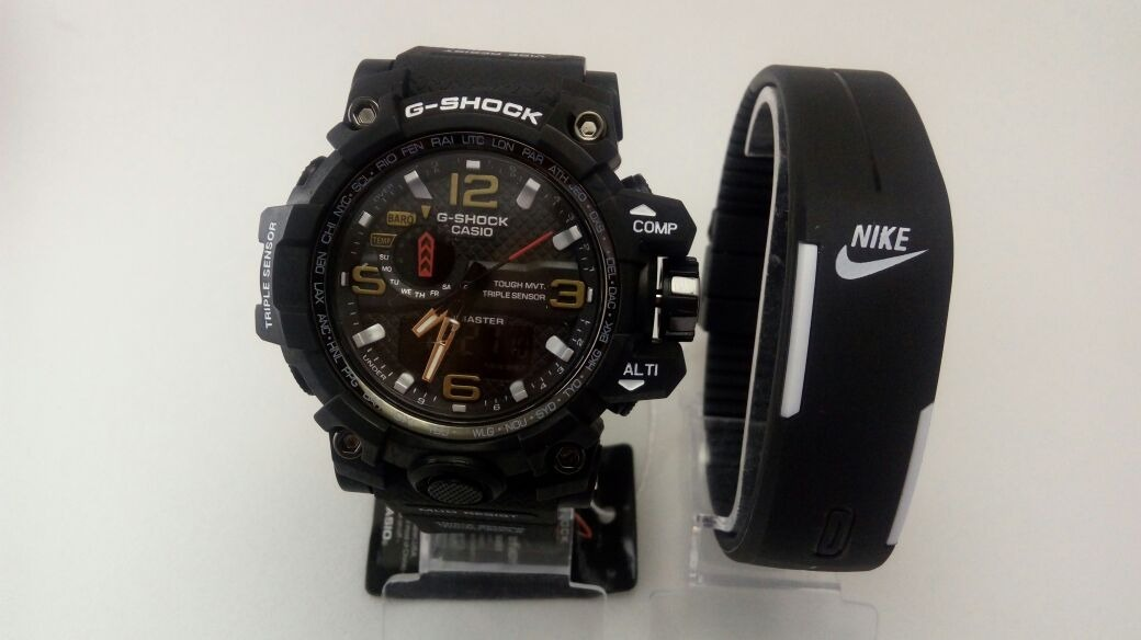 fd6c685484a relógio masculino casio g-shock digital e analógico preto br. Carregando  zoom.