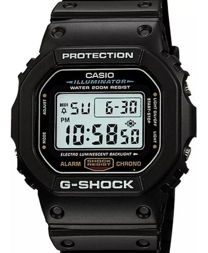 relógio masculino casio g-shock dw-5600e-1 original (nfe)