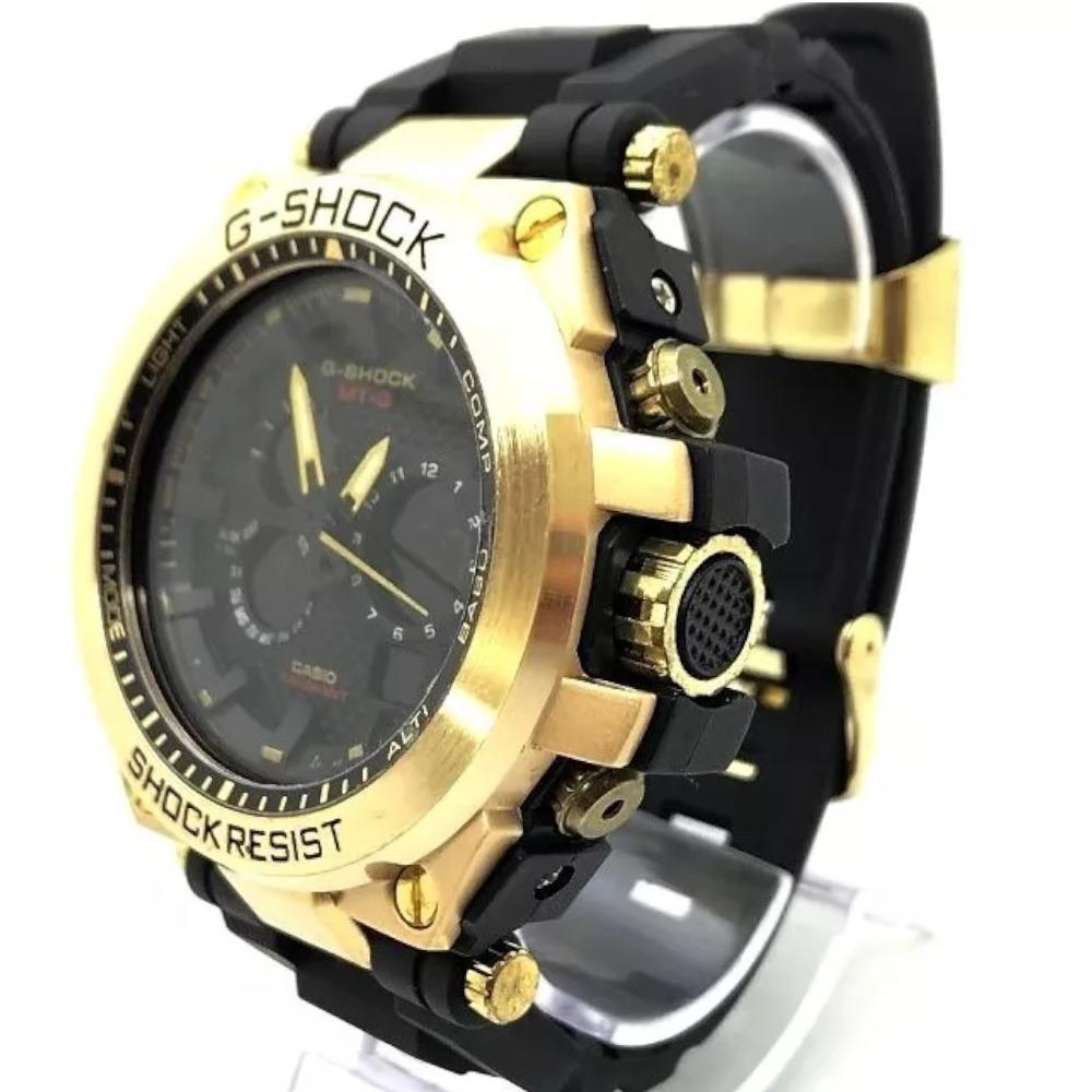6ae22dd0c01 relógio masculino casio g-shock gs02 dourado. Carregando zoom.