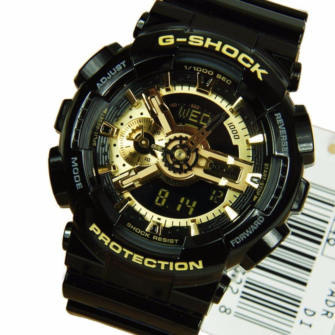 08cdf1406fc relógio masculino casio g-shock preto e dourado na caixa a3. Carregando zoom .