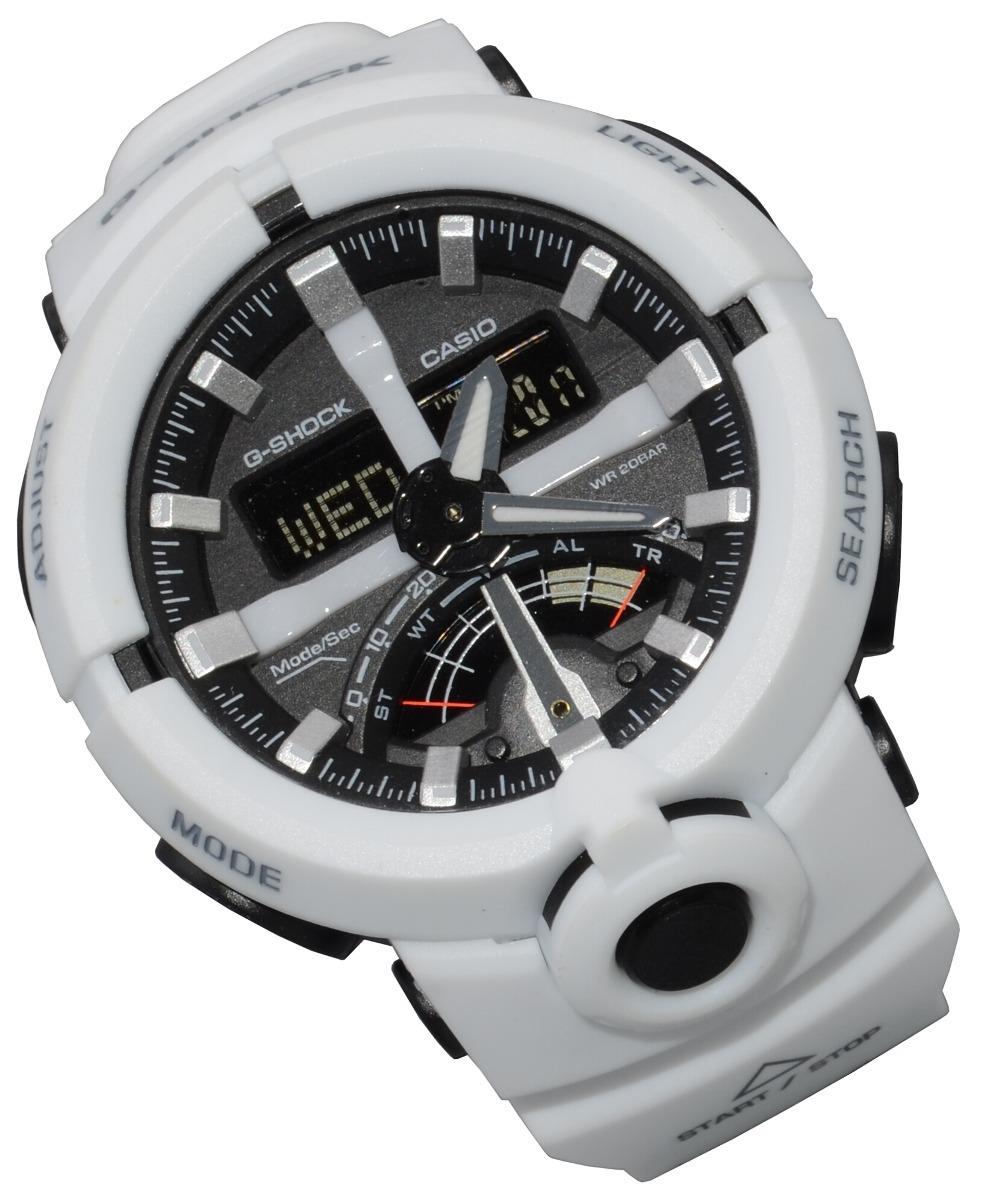 db0b66426e6 relógio masculino casio gshock ga500 branco lancamento!! Carregando zoom.
