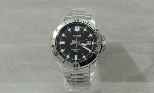relógio masculino  casio mtp-vd01d-1evudf - nfe / garantia