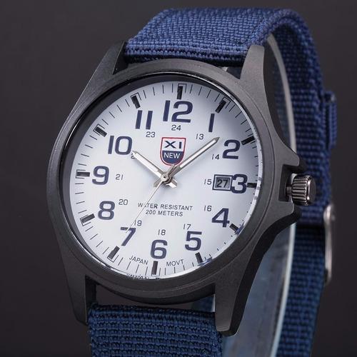 relógio masculino casual esporte função calendário pulseira