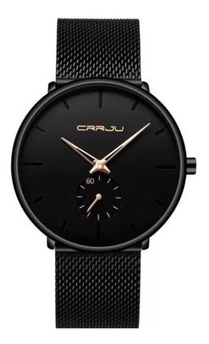 relógio masculino casual luxo crrju com caixa original