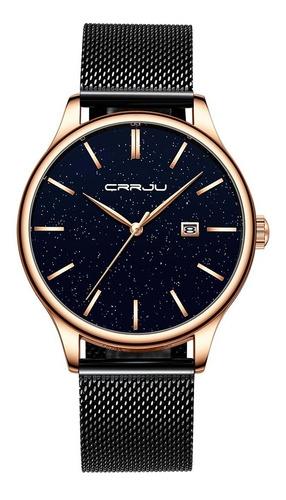 relógio masculino casual luxo função data pulseira preta