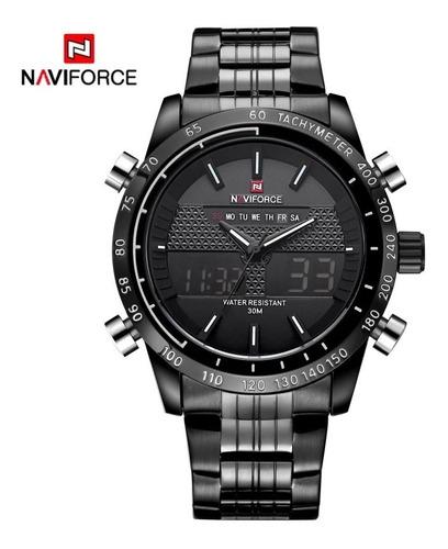 relógio masculino casual naviforce original nf9024 + brinde