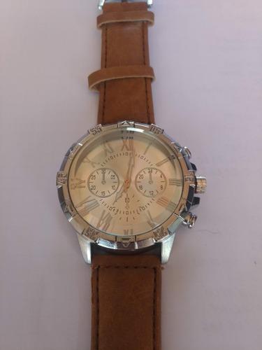 relógio masculino casual - pulseira de couro.