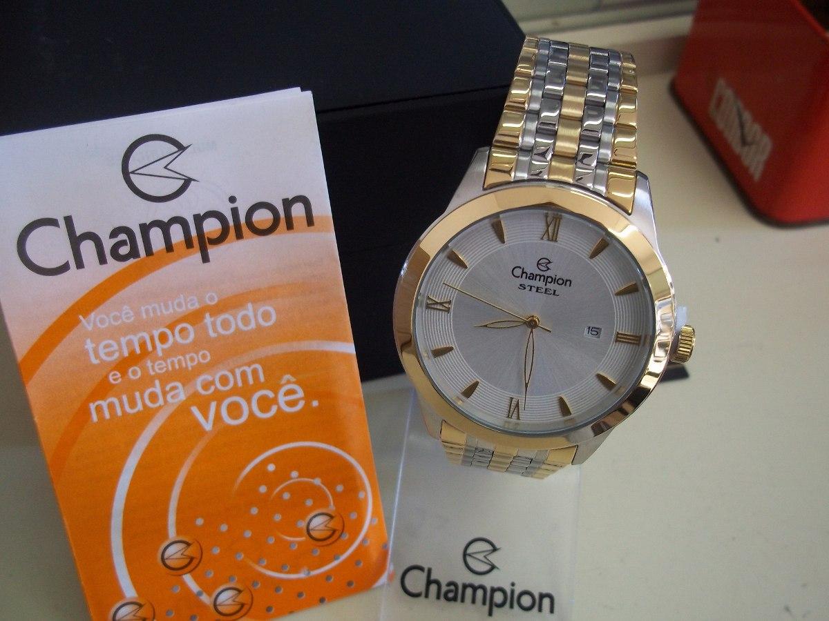 3b05e51ecd2 relógio masculino champion steel. Carregando zoom.