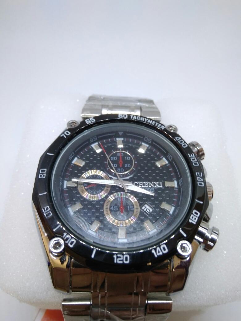 2a6cafd6a5e relógio masculino chenxi original prata luxo + brinde!! ! Carregando zoom.