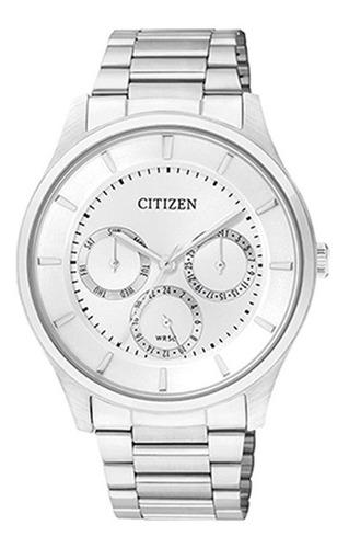 relógio masculino citizen  analógico - tz20608q prata/branco