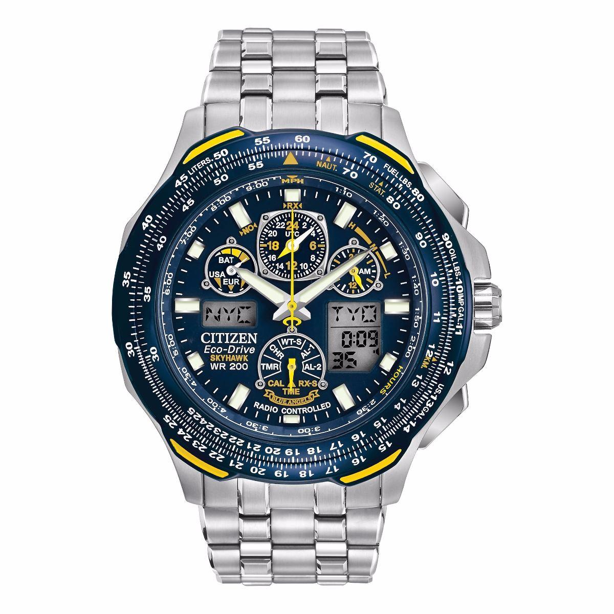 db402b670ff relógio masculino citizen blue angels jy050-55l titanium. Carregando zoom.