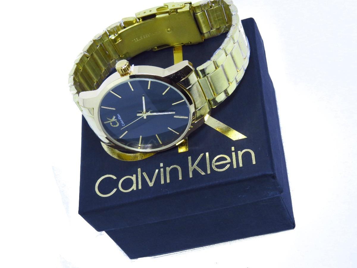 65a49d7d14482 relógio masculino ck dourado gold na caixa lindo barato. Carregando zoom.
