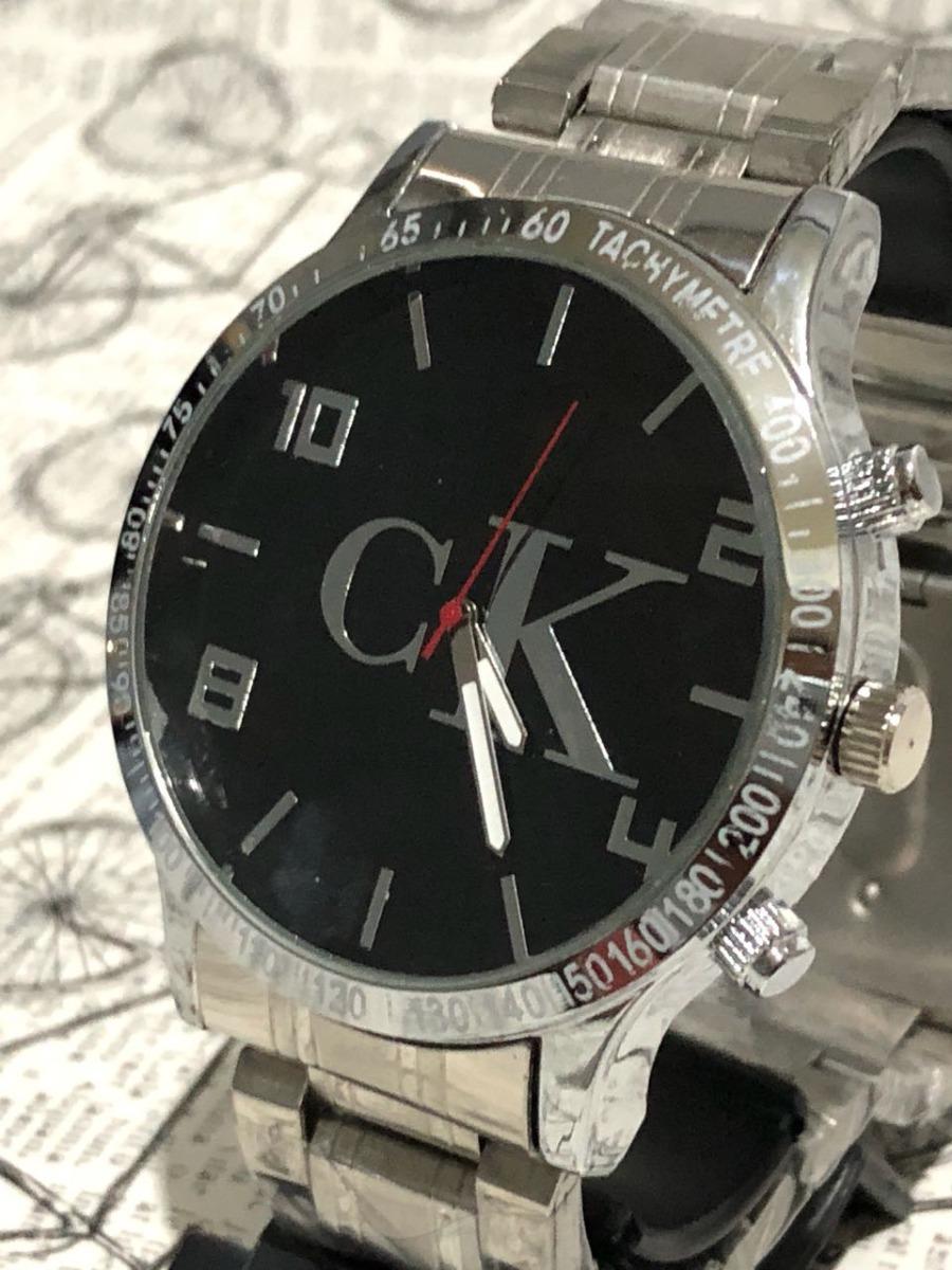2b8df63671827 relógio masculino ck pulseira aço promoção preto + caixa. Carregando zoom.