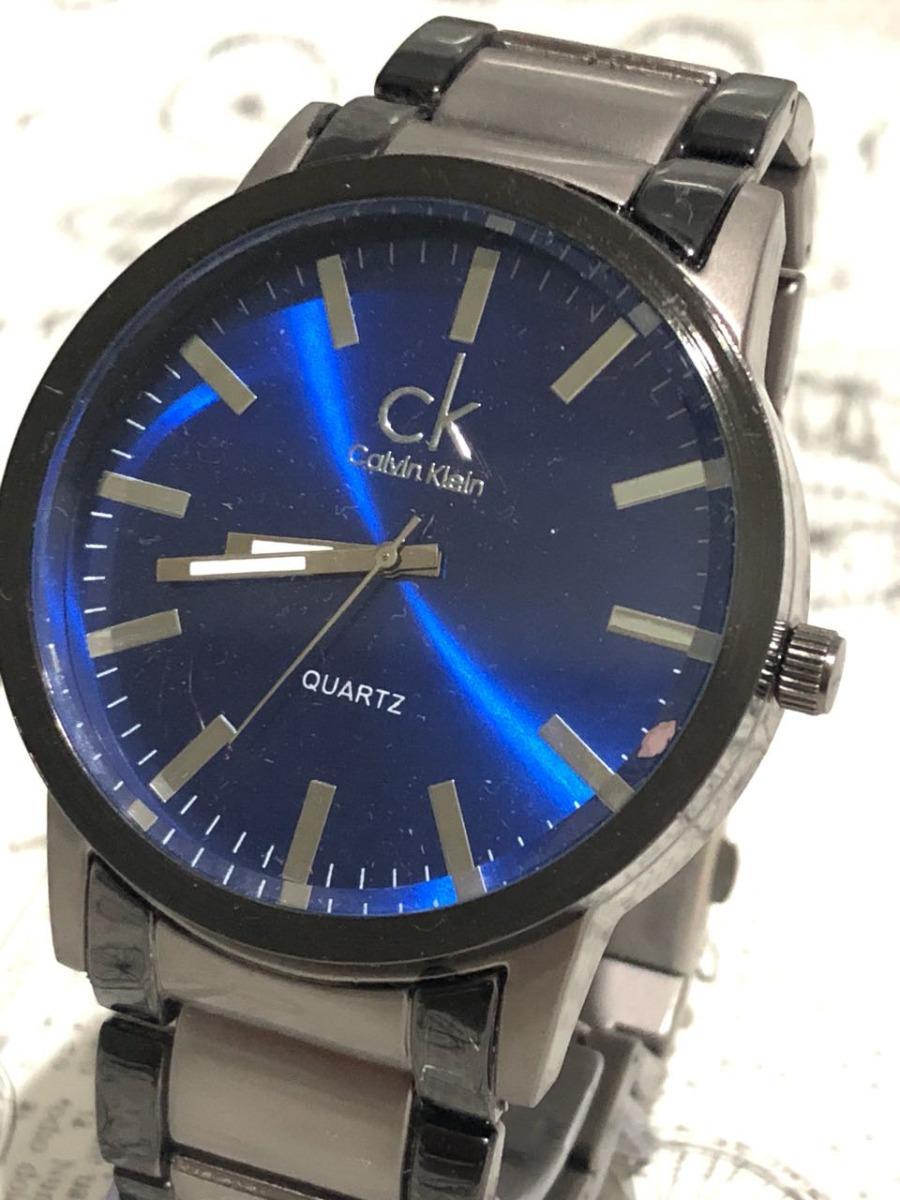 9ff75bb9433 relógio masculino ck pulseira aço promoção preto cinza azul. Carregando  zoom.