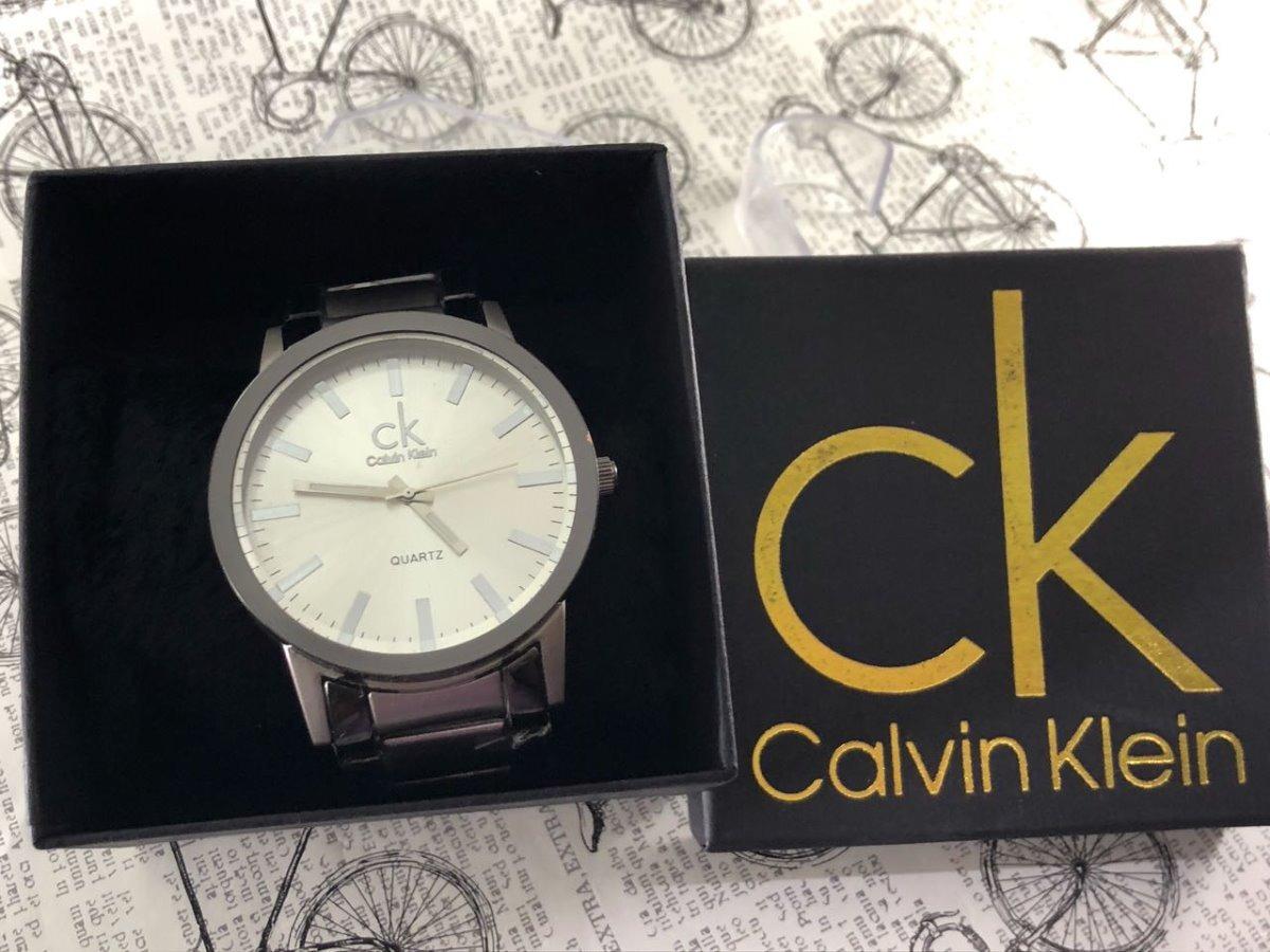 94cf9766ce6 relógio masculino ck pulseira de aço barato + caixa personal. Carregando  zoom.