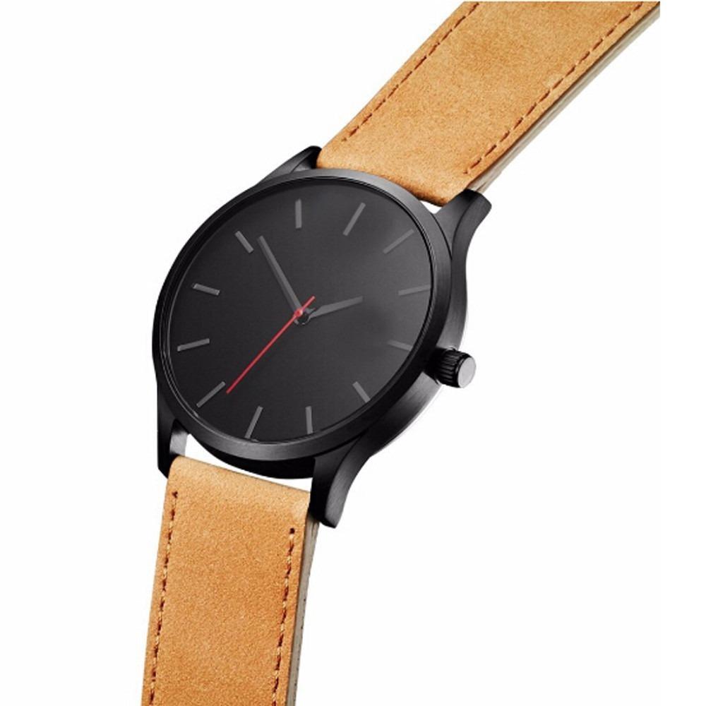 b993aa25986 relógio masculino clássico de luxo pulseira de couro. Carregando zoom.