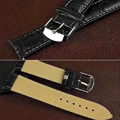 relógio masculino clássico pulseira couro social importado