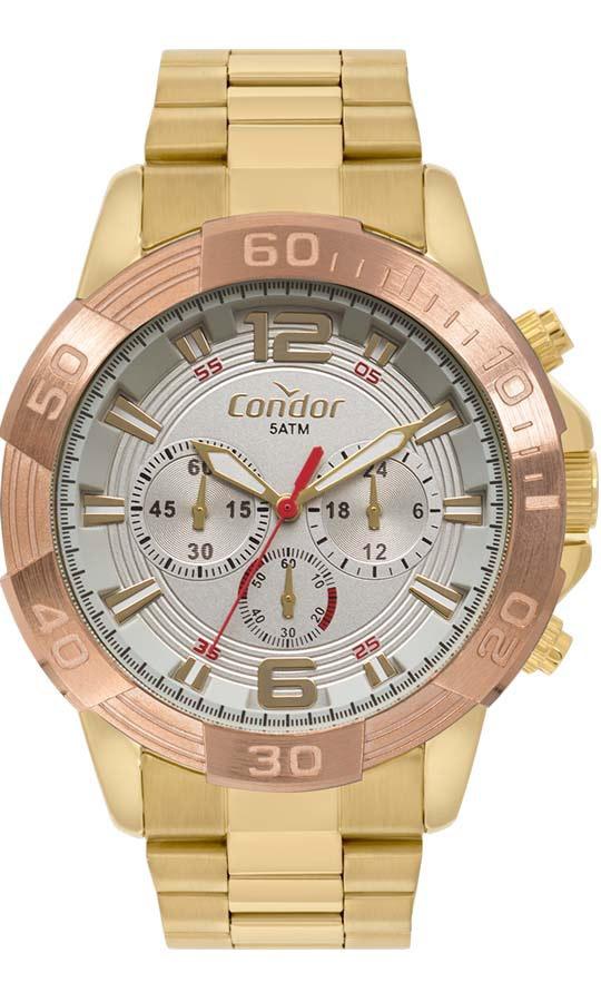 0021bc8b8d3 Relógio Masculino Condor Dourado Covd54az 4c Promoção - R  360