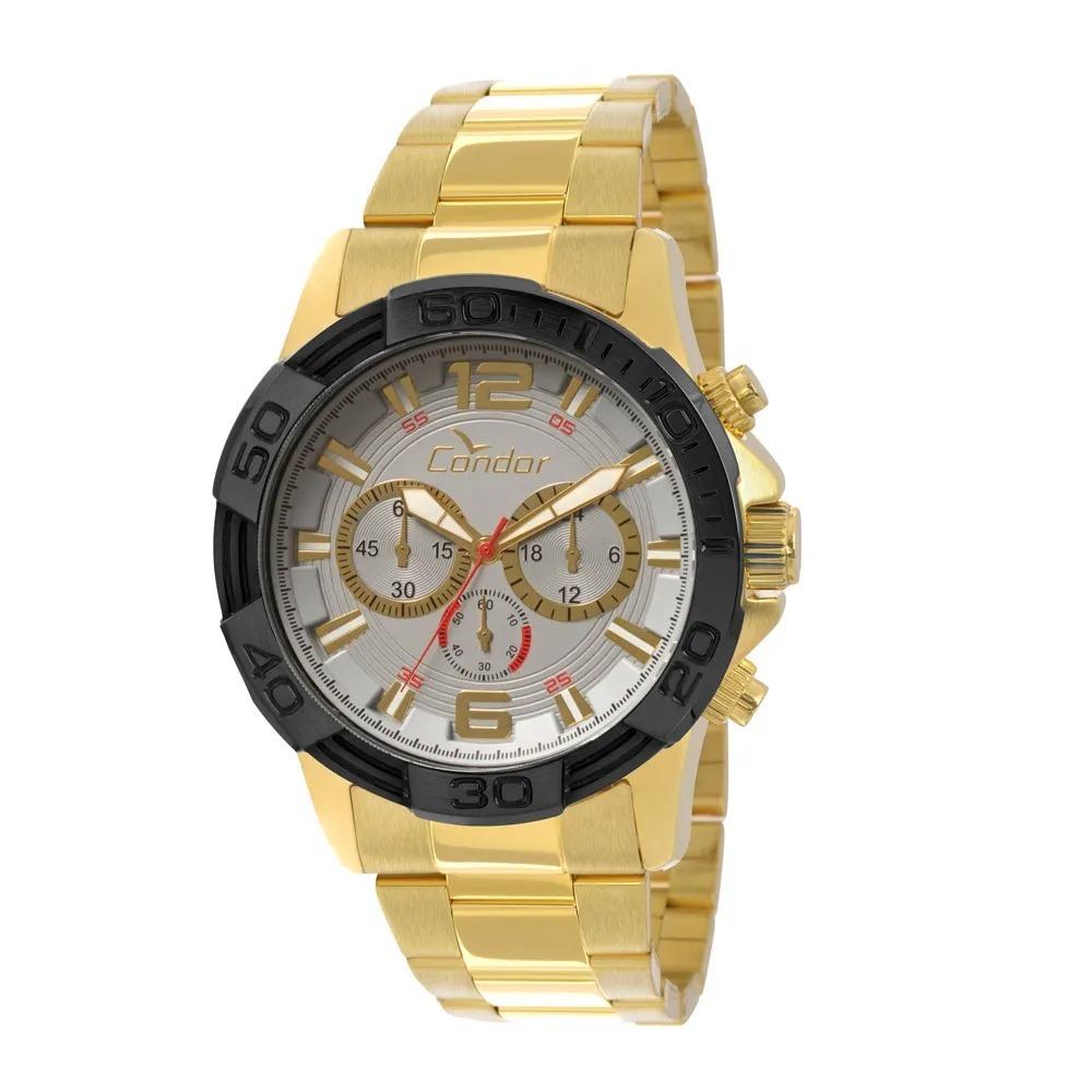 42c03cf76ea Relógio Masculino Condor Civic Covd54aa 4k - Cinza   Dourado - R ...
