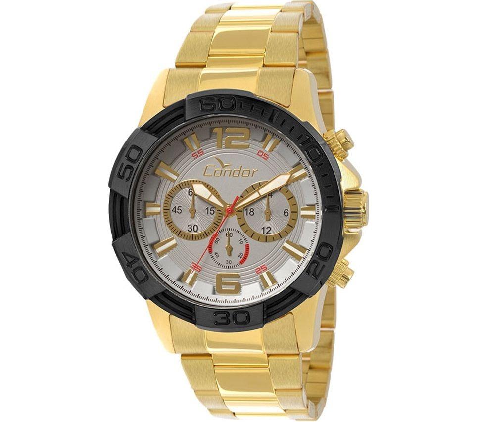 fef87815d1968 Relógio Masculino Condor Civic Covd54aa 4k - Cinza   Dourado - R ...