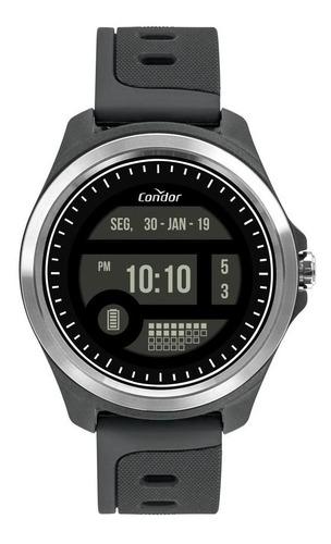 relógio masculino condor digital cokw05caa/8c 48mm cinza