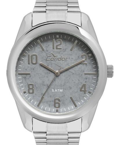 relógio masculino condor prateado co2036ktx/3c