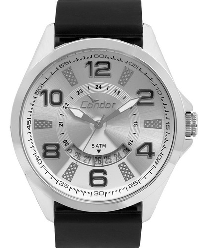 relógio masculino condor prateado co2115ktb/8k
