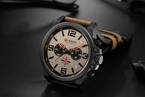 relógio masculino corruen com pulseira de couro