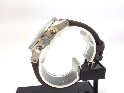 relógio masculino crju pulseira de couro luxo total