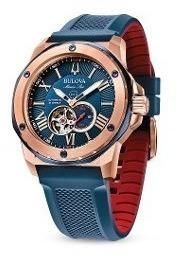 relógio masculino cronógrafo bulova marine star 98a227