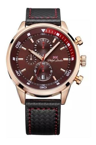 relógio masculino cronógrafo rose gold e preto pl80051612m