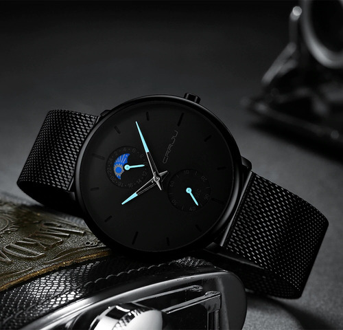 relógio masculino crrju cj2263-b - quartz (pronta entrega)