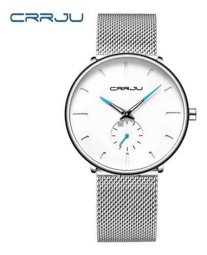 relógio masculino crrju esportivo a prova d'água casual luxo