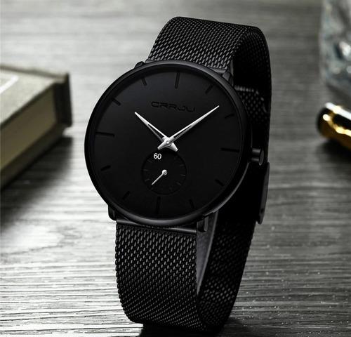 relógio masculino crrju original esportivo moderno classic