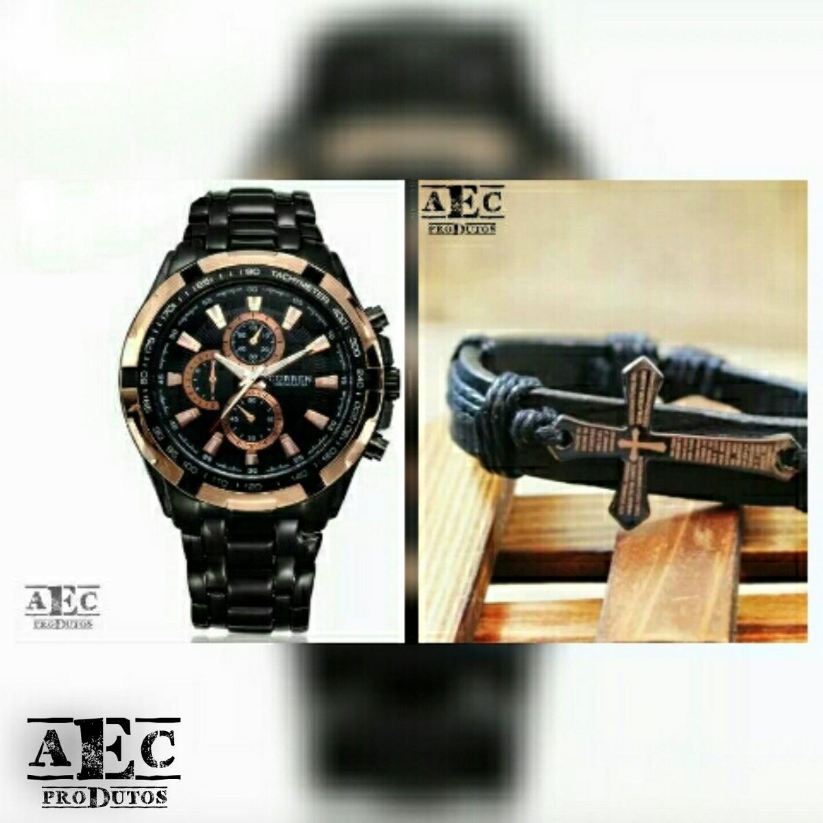 43c01788db5 Relógio Masculino Curren 8023 De Luxo Original Com Brinde - R  120 ...