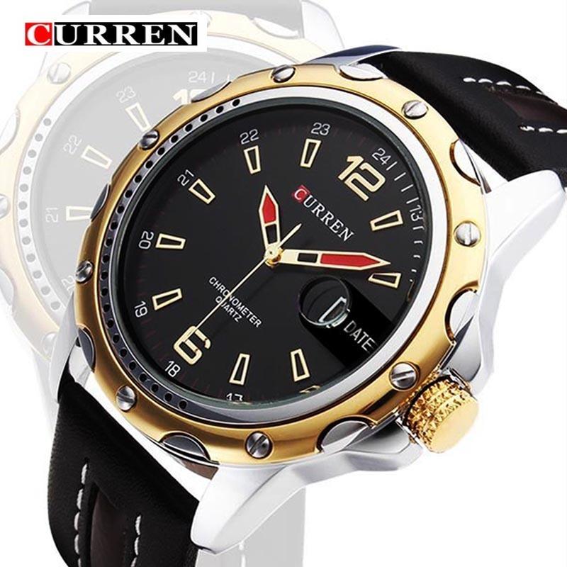 6b4781faf52 Relógio Masculino Curren 8104 De Luxo