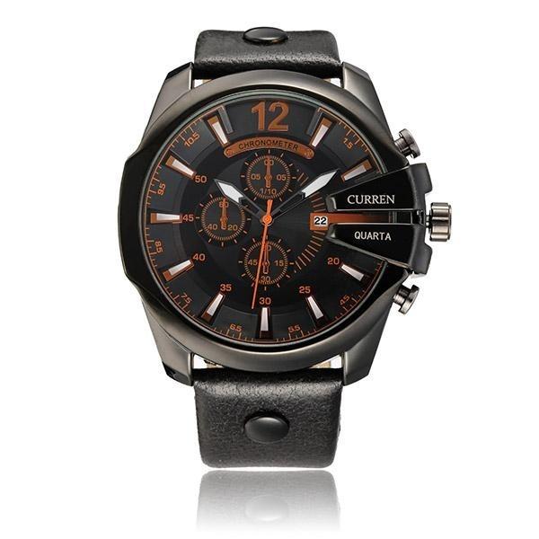 ffde6ef569c Relógio Masculino Curren 8176 Original Barato Luxo - R  119